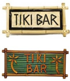 bamboo tiki bar tiki huts sign